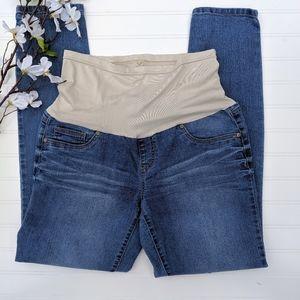 Destination Maternity Medium Wash Skinny Jeans
